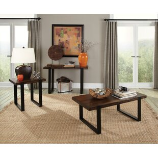 Micaela 3 Piece Coffee Table Set Union Rustic
