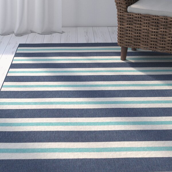 Springwater Blue/Ivory Indoor/Outdoor Area Rug by Beachcrest Home