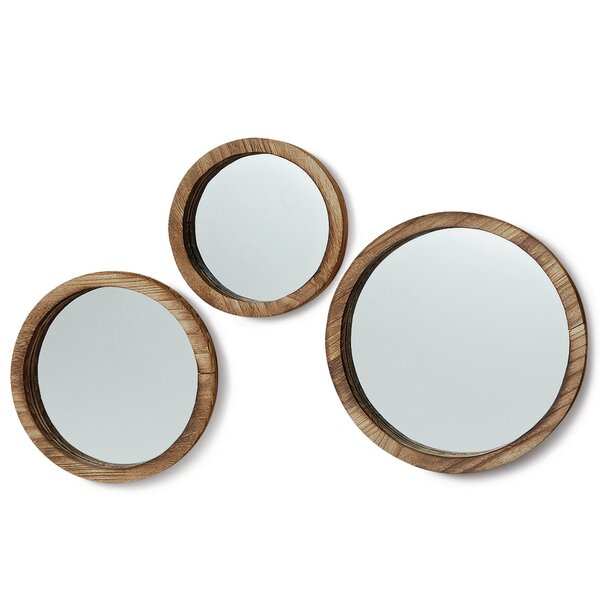 3 Piece Boho Chic Porthole Wall Mirror Set by Whole House Worlds