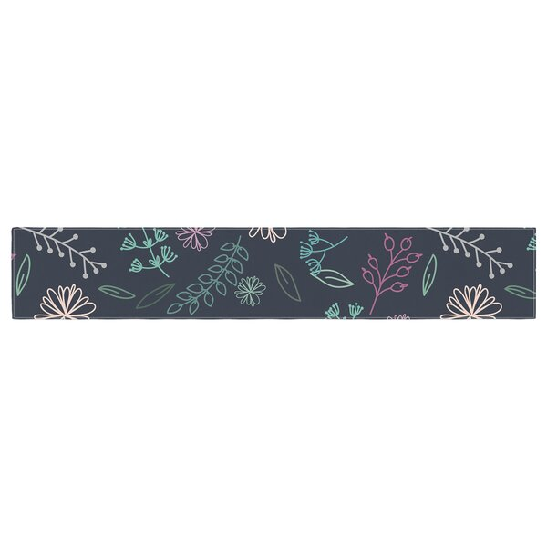 Louise Flower III Table Runner by East Urban Home