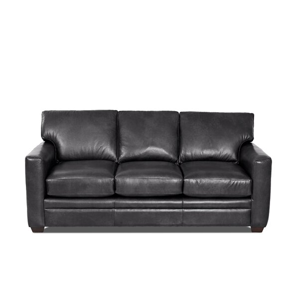 Carleton Leather Sofa Bed by Wayfair Custom Upholstery™