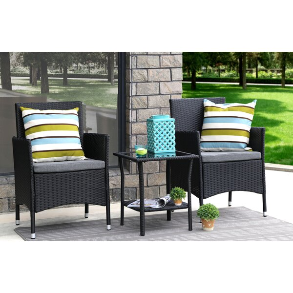 Bartee 3 Piece Conversation Set with Cushions by Ebern Designs