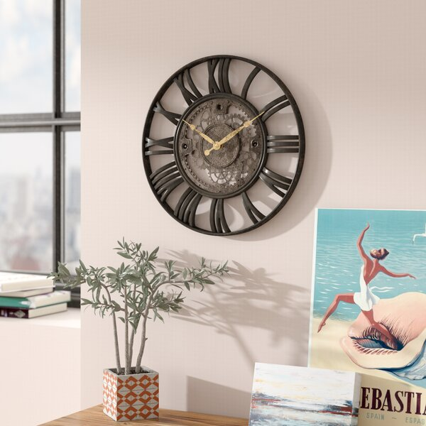 Lehigh 15 Roman Gear Wall Clock by Trent Austin Design