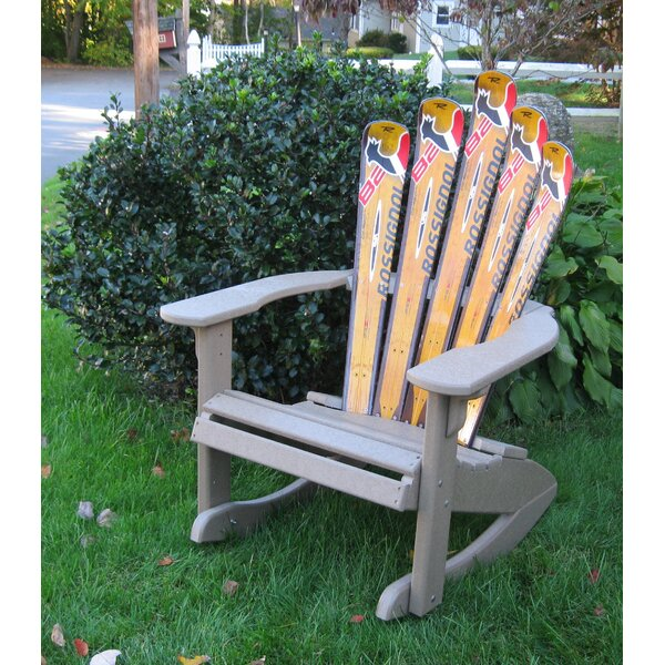 Snow Ski Plastic Adirondack Chair Rocker by Ski Chair Ski Chair