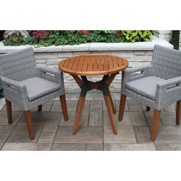 Moana 3 Piece Bistro Set With Cushions By Beachcrest Home by Beachcrest Home Bargain