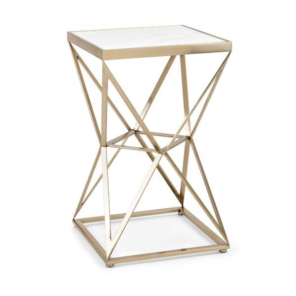 Pilar Modern Iron Frame End Table By Mercer41
