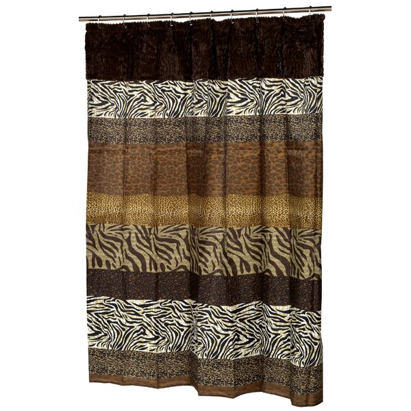 Cleavenger Faux Fur-Trimmed Shower Curtain by World Menagerie