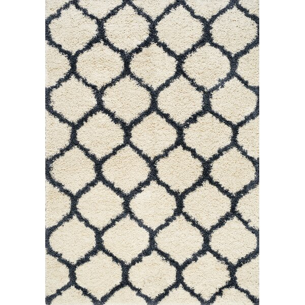 Balinda Simple Cream/Blue Area Rug by Darby Home Co