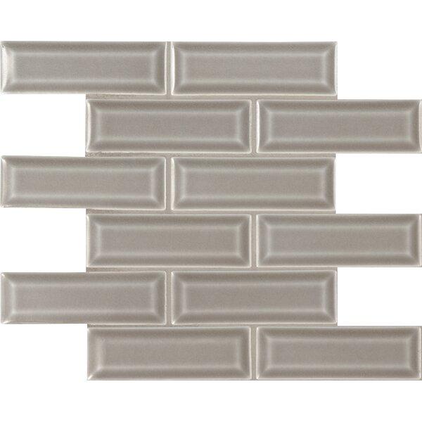 Dove Gray 2 x 6  Beveled Ceramic Mosaic Tile in Gray by MSI