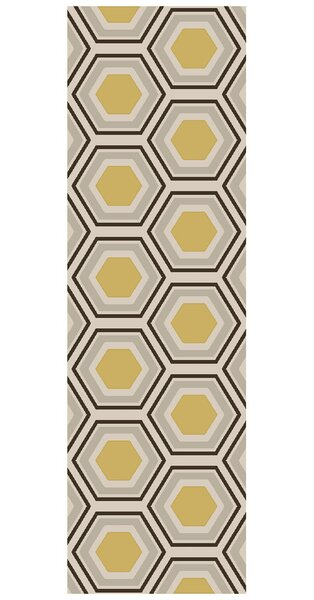 Fallon Hand Woven Wool Beige/Yellow/Black Area Rug by Jill Rosenwald Home