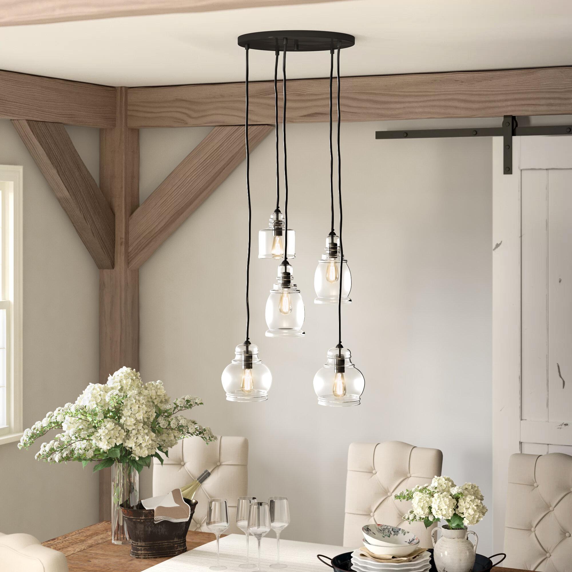 Collis 5 Light Cluster Bell Pendant Reviews Birch Lane