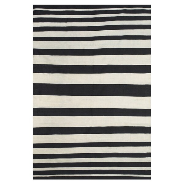 Calcote Hand Loomed Black Indoor/Outdoor Area Rug by Wrought Studio