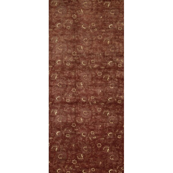 Hand-Knotted Wool Rust Rug