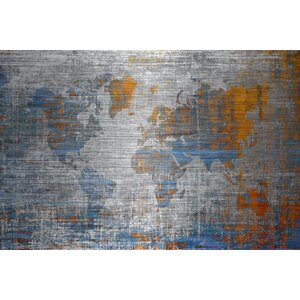 'Oceans Journey' by Parvez Taj Painting Print on Brushed Aluminum by Parvez Taj