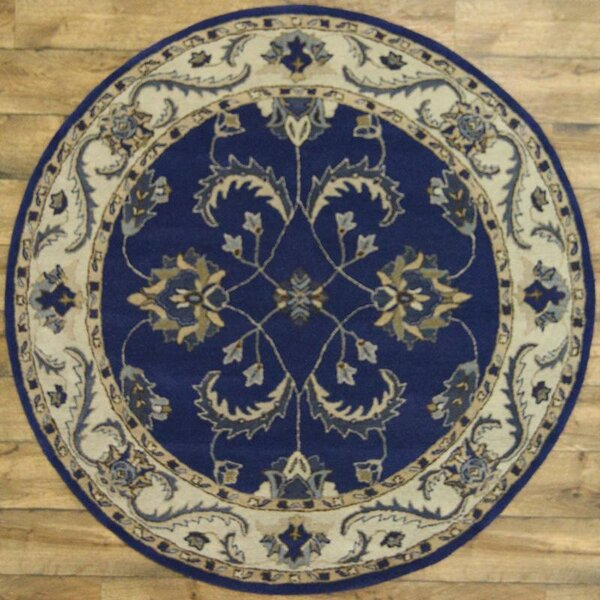 One-of-a-Kind Miranda Agra Oriental Hand-Tufted Wool Blue Area Rug by Astoria Grand
