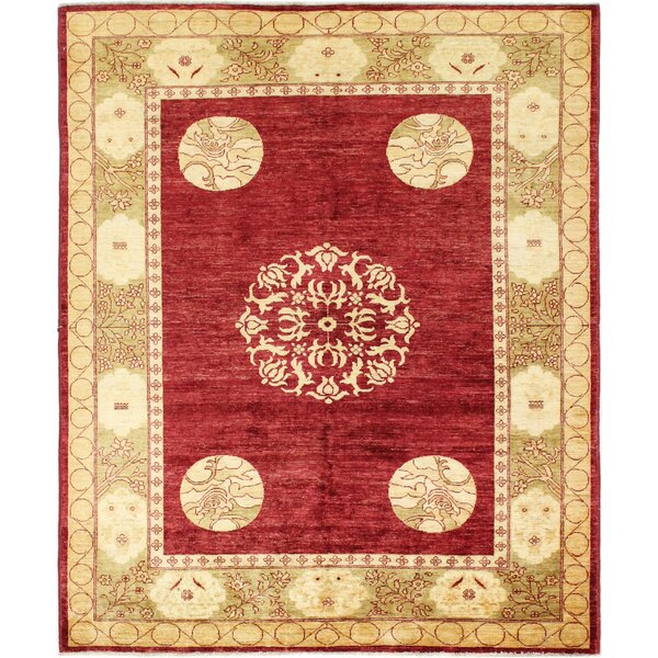 One-of-a-Kind Palwala Hand-Woven Wool Red/Beige Area Rug by Astoria Grand