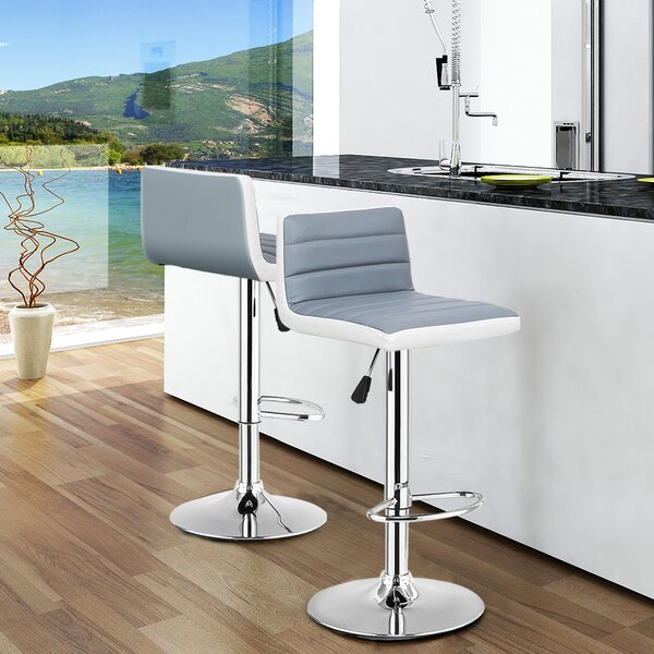 Astonishing Dev Adjustable Height Swivel Bar Stool Set Of 2 By Orren Creativecarmelina Interior Chair Design Creativecarmelinacom