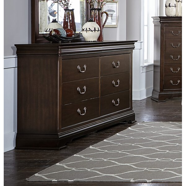Hebden 6 Drawer Double Dresser by Charlton Home