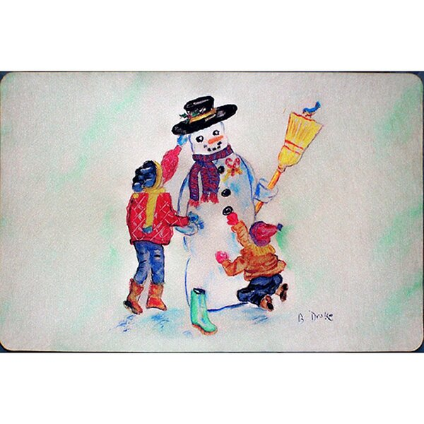 Ann Snowman Placemat (Set of 4) by The Holiday Aisle