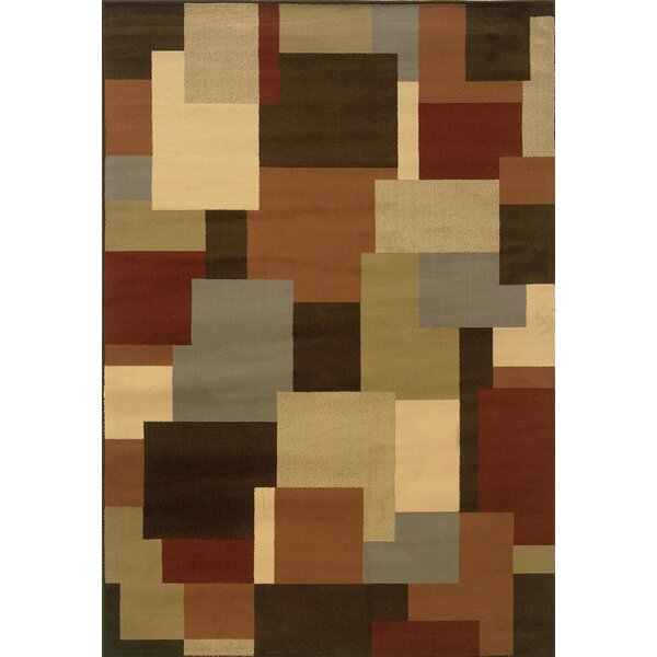 Brentford Geometric Brown/Beige Area Rug by Andover Mills