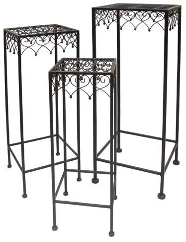 Metal 3 Piece Plant Stand Set by Mr. MJs