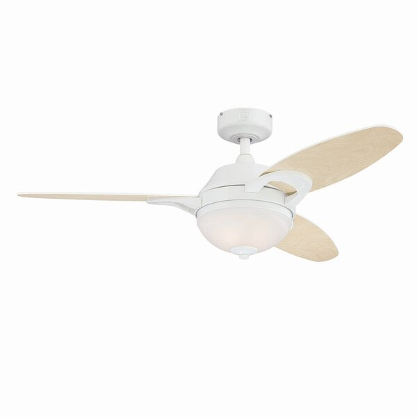 46 Redding 3-Blade Ceiling Fan with Remote by Latitude Run