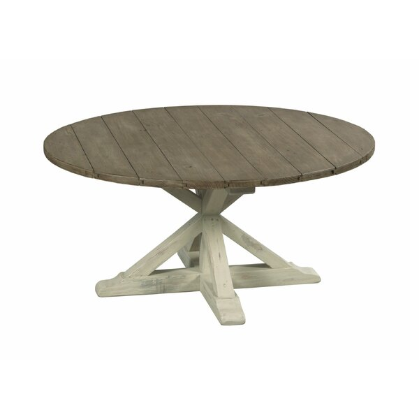 Wesley Pedestal Coffee Table By Highland Dunes