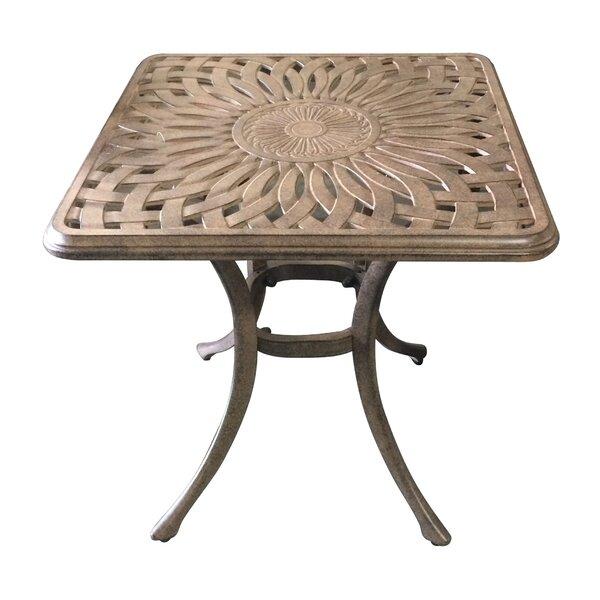 Wasserman Metal Side Table by Fleur De Lis Living