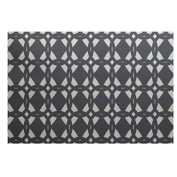 Bonilla Geometric Print Gray Indoor/Outdoor Area Rug by Ivy Bronx