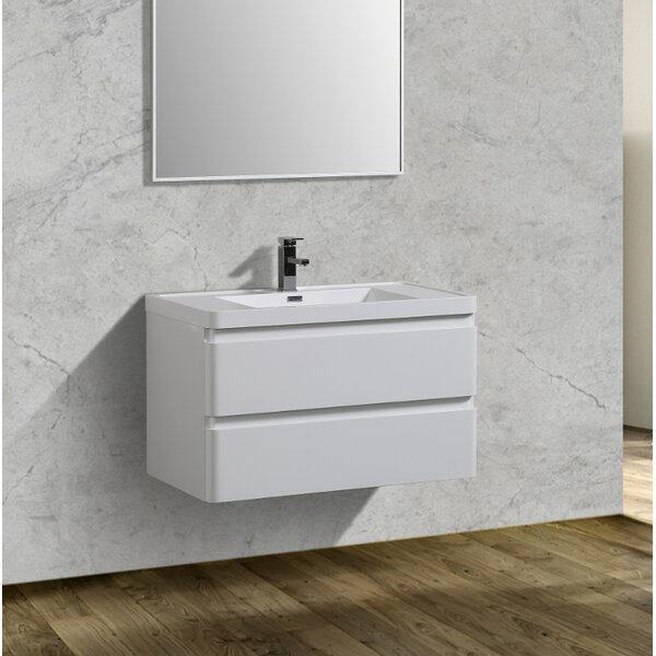 Blaire 35 Wall-Mounted Single Bathroom Vanity Set by Orren Ellis