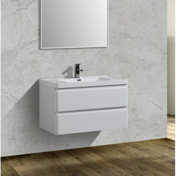 Blaire 35 Wall-Mounted Single Bathroom Vanity Set by Orren Ellis