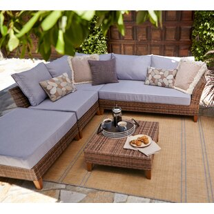 Wrington 5 Piece Sectional Seating Group with Cushions ByGeorge Oliver