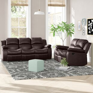Bryce 2 Piece Faux Leather Reclining Living Room Set by Latitude Run®