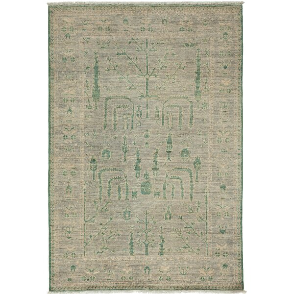 One-of-a-Kind Oushak Hand-Knotted Gray Area Rug by Solo Rugs
