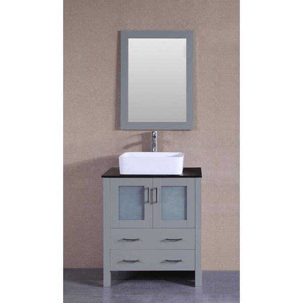 Veince 30 Single Bathroom Vanity Set with Mirror by Bosconi
