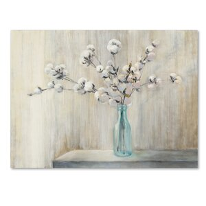 'Cotton Bouquet' Print on Wrapped Canvas by Trademark Fine Art