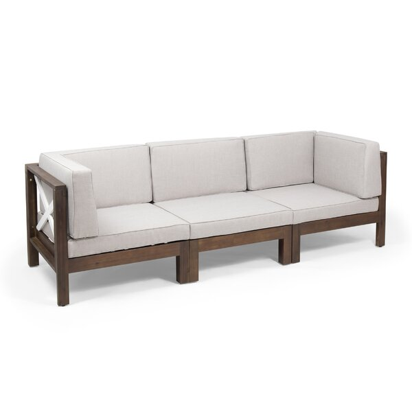 Peck Outdoor Modular Patio Sofa with Cushions by Breakwater Bay