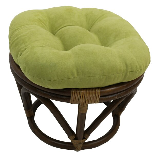 Declan Tufted Standard Microsuede Ottoman By Beachcrest Home