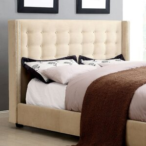 LaTish Upholstered Wingback Headboard by Hokku Designs