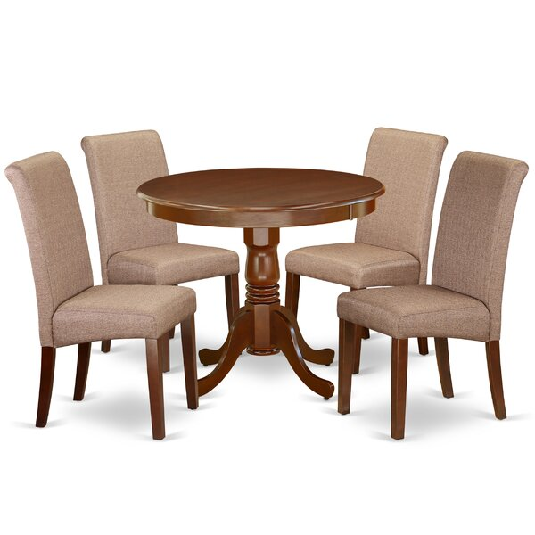 Cambridge 5 Piece Solid Wood Dining Set By Charlton Home