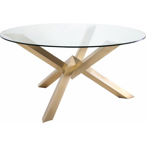 Fortson Glass Dining Table by Everly Quinn Everly Quinn