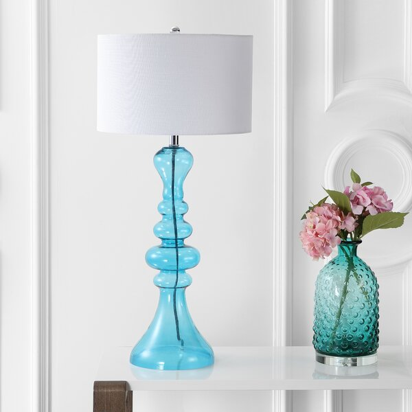 Filip Curved Glass 35 Table Lamp by Everly Quinn
