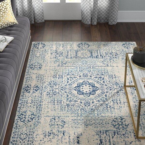 Huma Ivory Blue Area Rug By Willa Arlo Interiors.