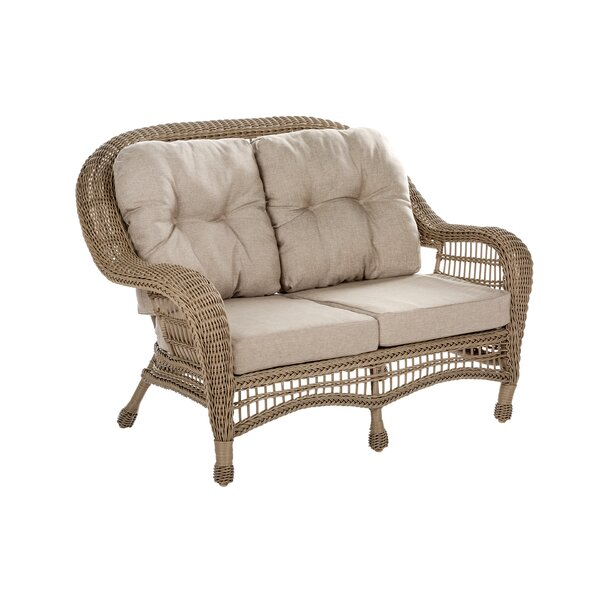 Denita Outdoor Garden Loveseat with Cushions by Highland Dunes Highland Dunes