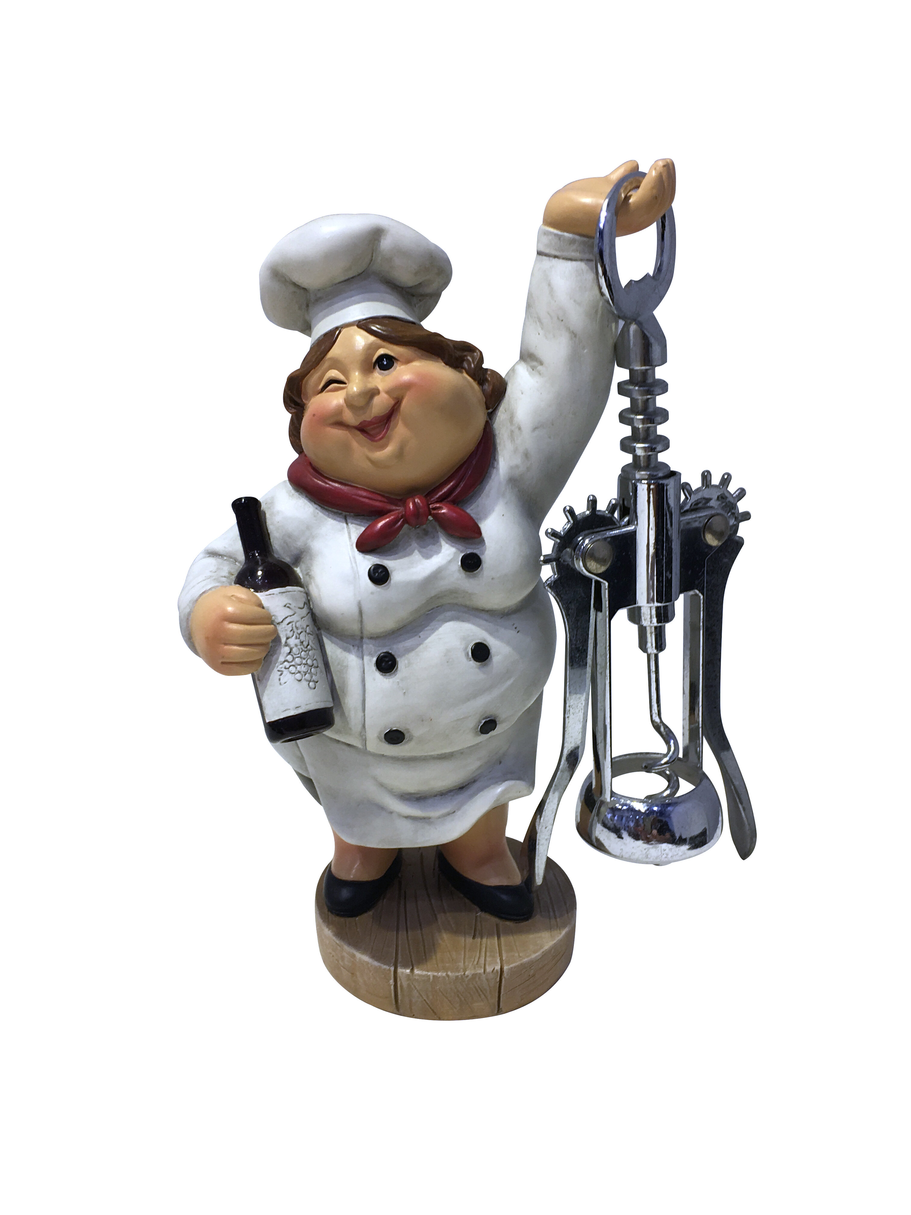 Wine Bodies Winking Fat Lady Italian Chef Figurine Corkscrew Reviews Wayfair