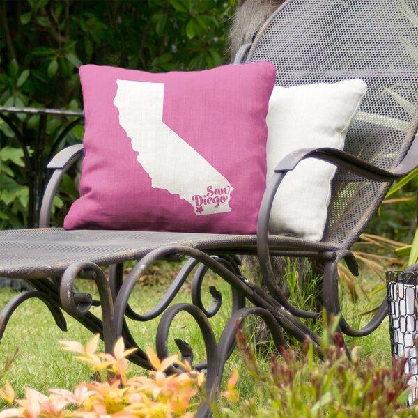 California Indoor/Outdoor Throw Pillow