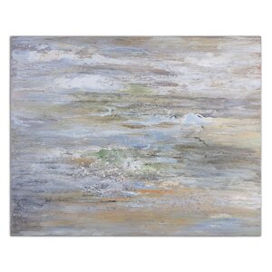 'Misty Morning' Painting Print on Canvas by Beachcrest Home