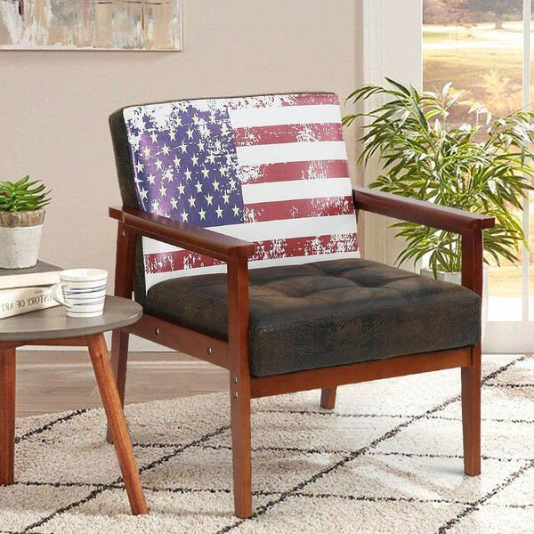 Sigman Solid Wood Armchair by Millwood Pines