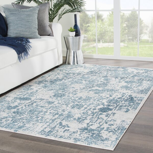 Dowdy Blue/Beige Area Rug by Bungalow Rose