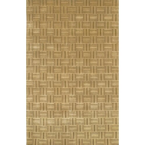 Caines Wool Tan/White Area Rug by Fleur De Lis Living